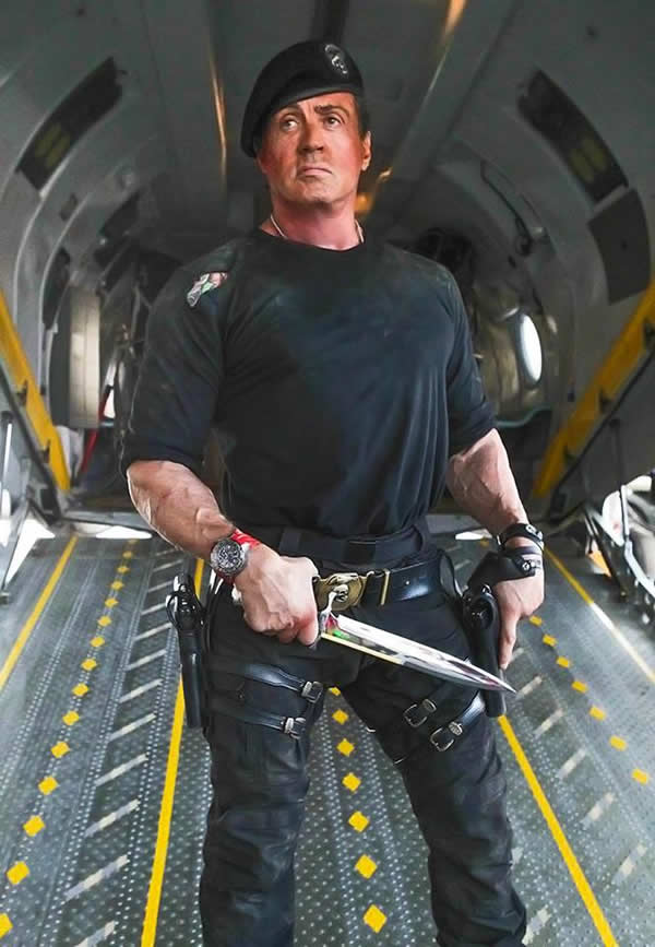 Sylvester Stallone Watch In The Expendables 3 Movie knife