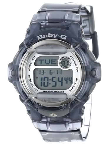 Casio Women BG169R-8 Baby-G Gray Resin Sport Watch