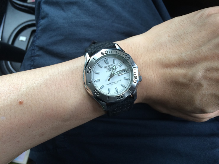Seiko SNK027K Seamaster With Dagaz Watch Hands