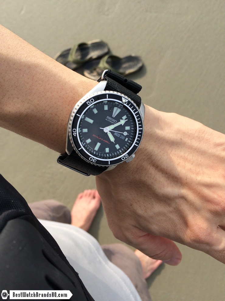 Modded SKX173 Planet Ocean In The Sea Small Wrist