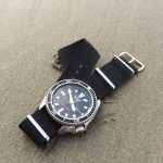 Modded Seiko SKX173 Planet Ocean On A Beach Trip