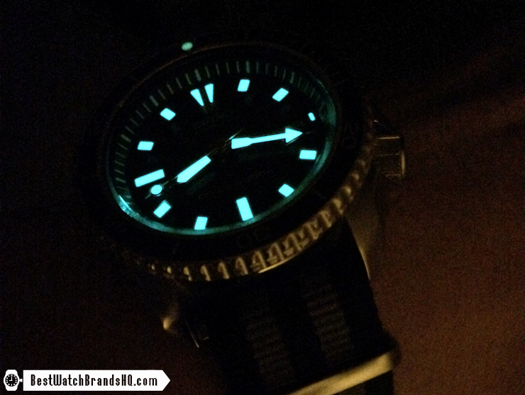 Seiko SKX173 Bright Excellent Lume