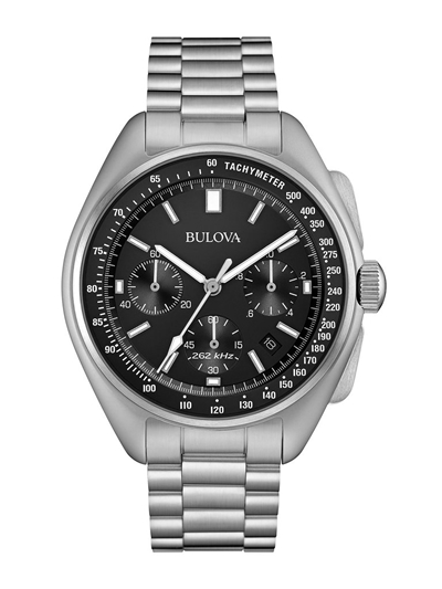 Bulova LUNAR PILOT CHRONOGRAPH Moon Watch Stainless Steel Bracelet 96B258