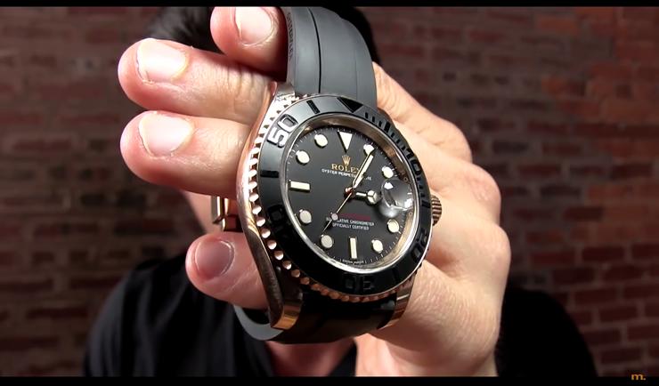 Alpha M Rolex Yacht-Master 40 rose gold watch