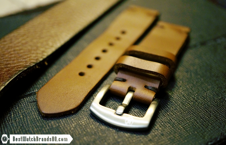 Jack Foster Chocolate Cavalier Horween Chromexcel Leather Watch Strap Review 2