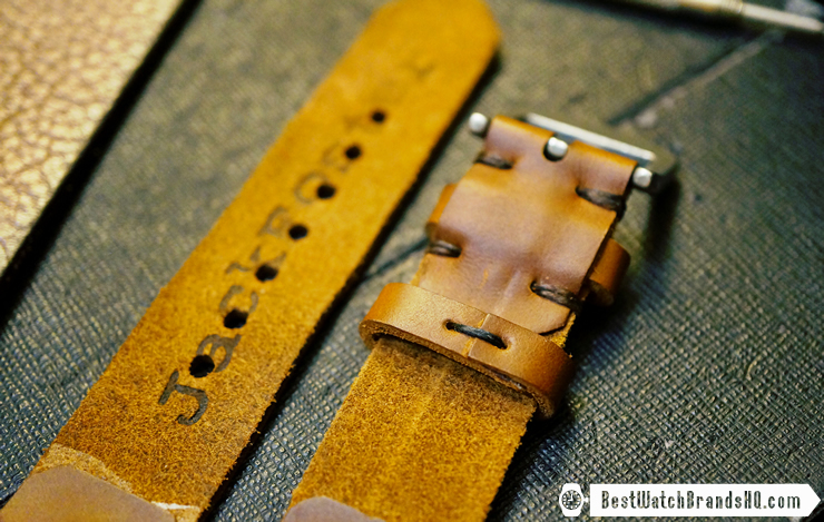 Jack Foster Chocolate Cavalier Horween Chromexcel Leather Watch Strap Review 3
