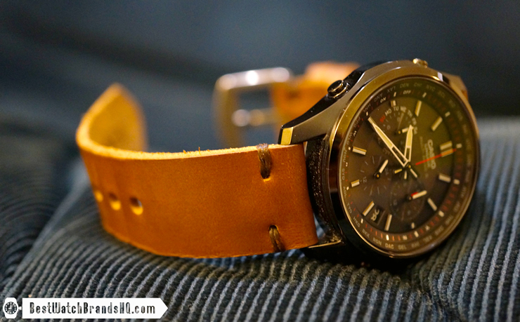 Jack Foster Chocolate Cavalier Horween Chromexcel Leather Watch Strap Review 6