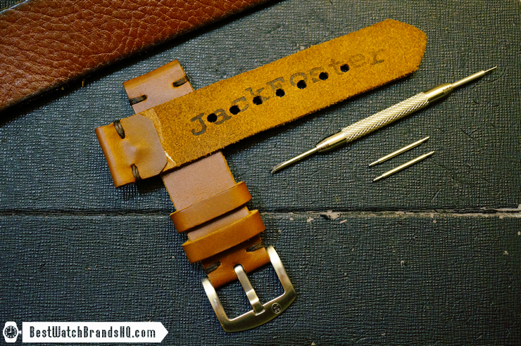 Jack Foster Chocolate Cavalier Horween Chromexcel Leather Watch Strap Review