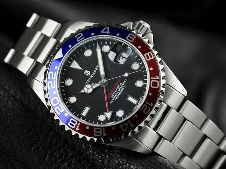Steinhart GMT-OCEAN One 39 blue-red Pepsi