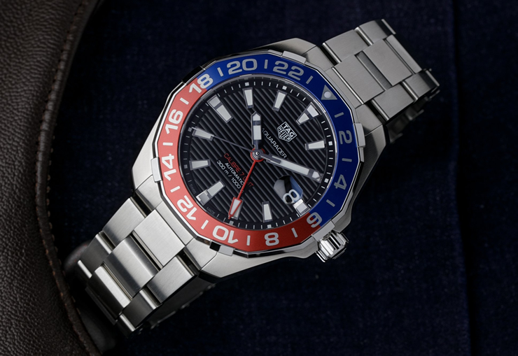 Tag Heuer Aquaracer GMT Red Blue Pepsi Bezel WAY201F