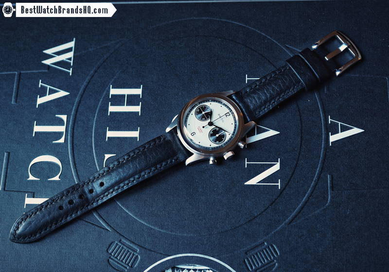 Bas & Lokes Kingsman Black Leather Watch Strap 5