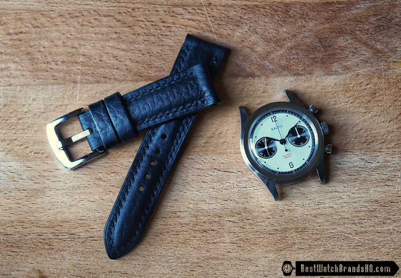 Bas & Lokes Kingsman Black Leather Watch Strap