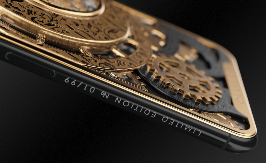 Caviar Skeletonized Watch Movement Case For Your iPhone XS 2
