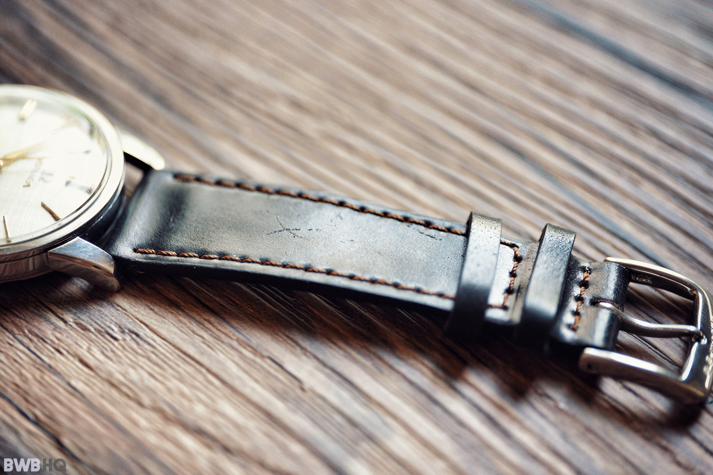 Nomos Shell Cordovan Watch Strap Review With Vintage Omega 3