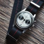 Red Stripe NATO Strap With Baltic Panda Watch