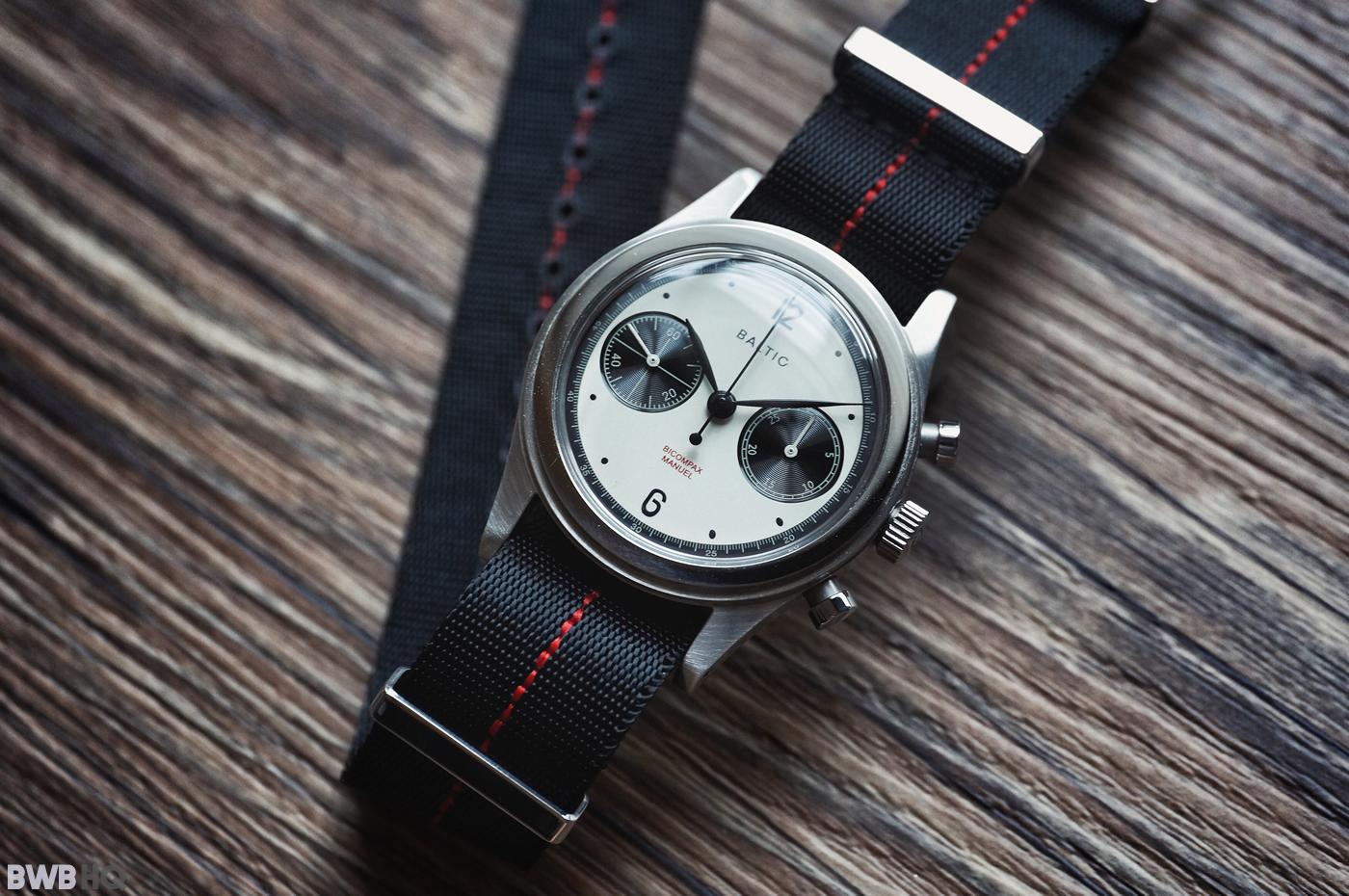 Red Stripe NATO Strap With Baltic Panda Watch