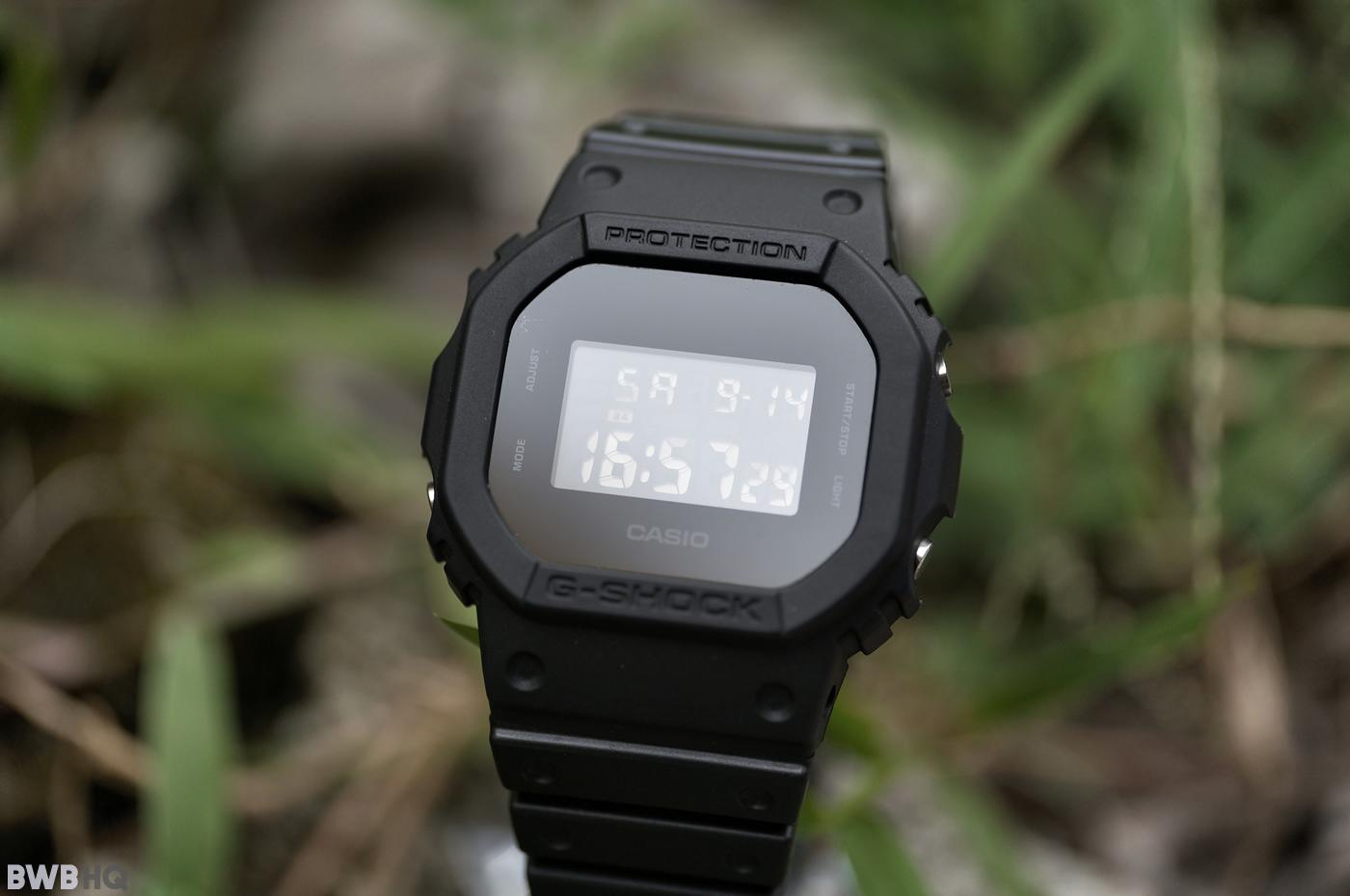 G-Shock DW5600BB All Black Screen Glare