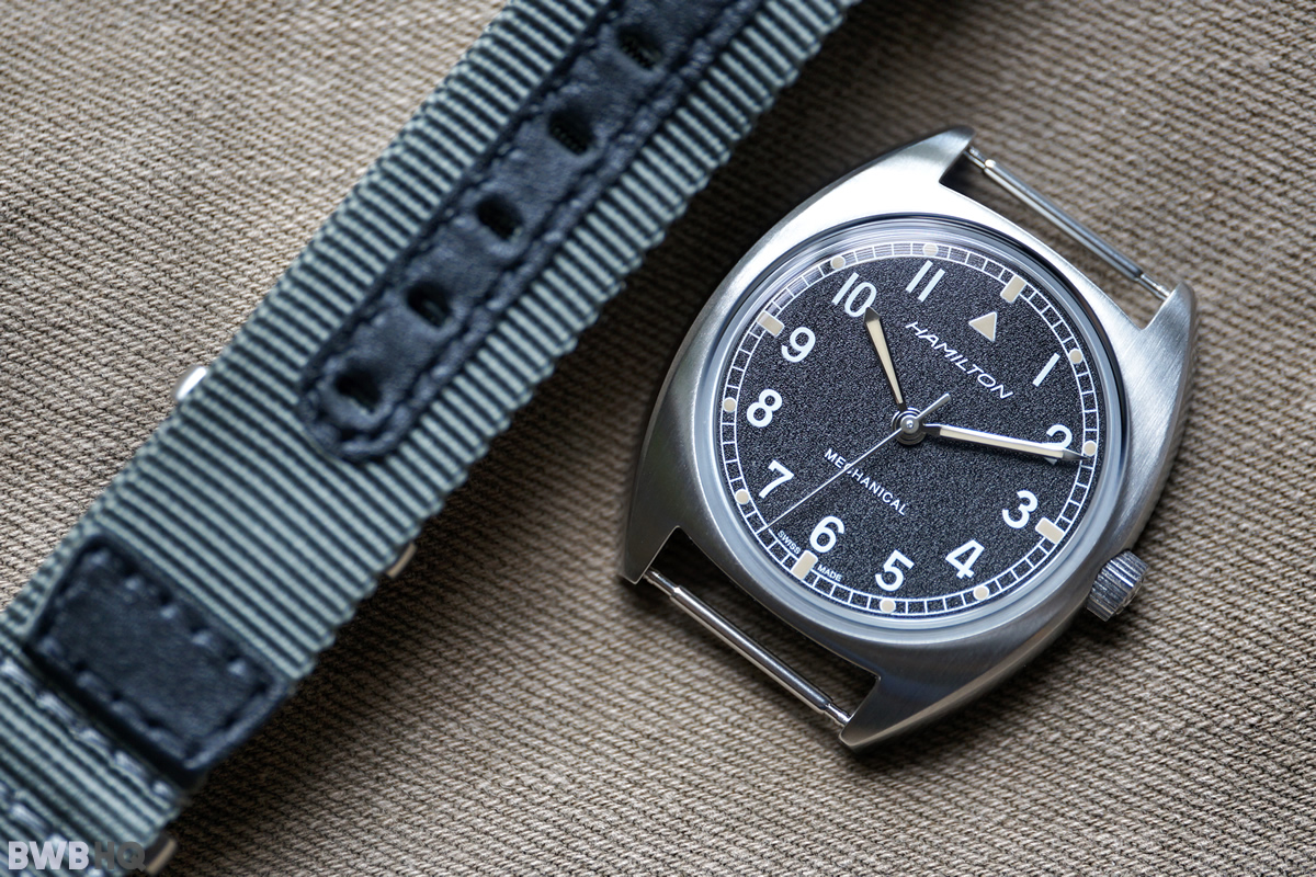 Hamilton Khaki Pilot Pioneer Mechanical Case and NATO Strap