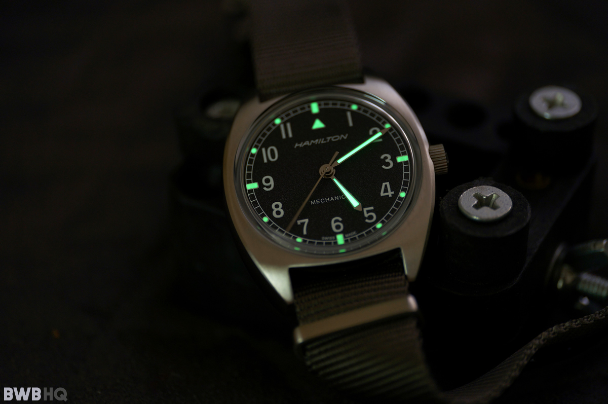 Hamilton Khaki Pilot Pioneer Mechanical Superluminova Vintage Lume