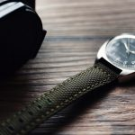 Crown & Buckle Phalanx Olive Green Canvas Strap 1