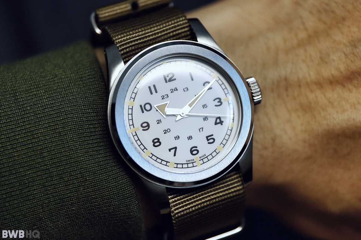Serica Field Watch Crown & Buckle NATO Strap