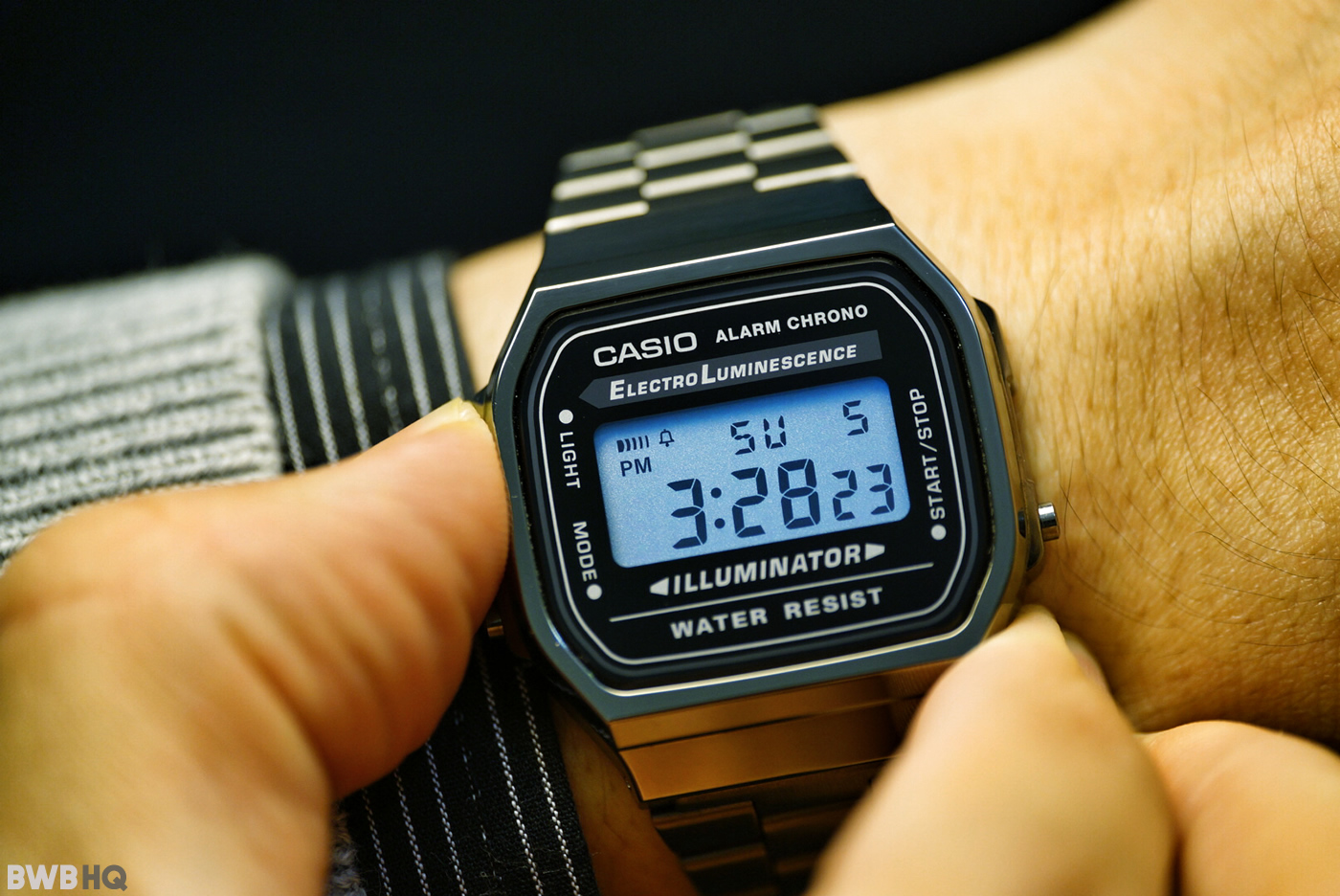 Casio A168WGG-1A Gunmetal EL Backlight