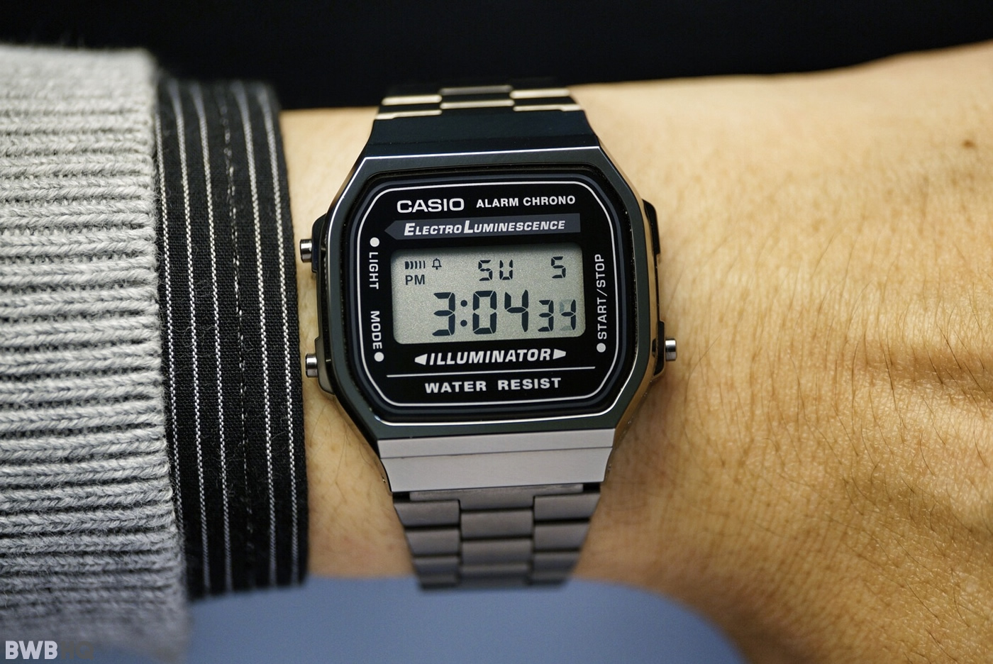 Casio A168WGG-1A Gunmetal On Small Wrist 6 inch