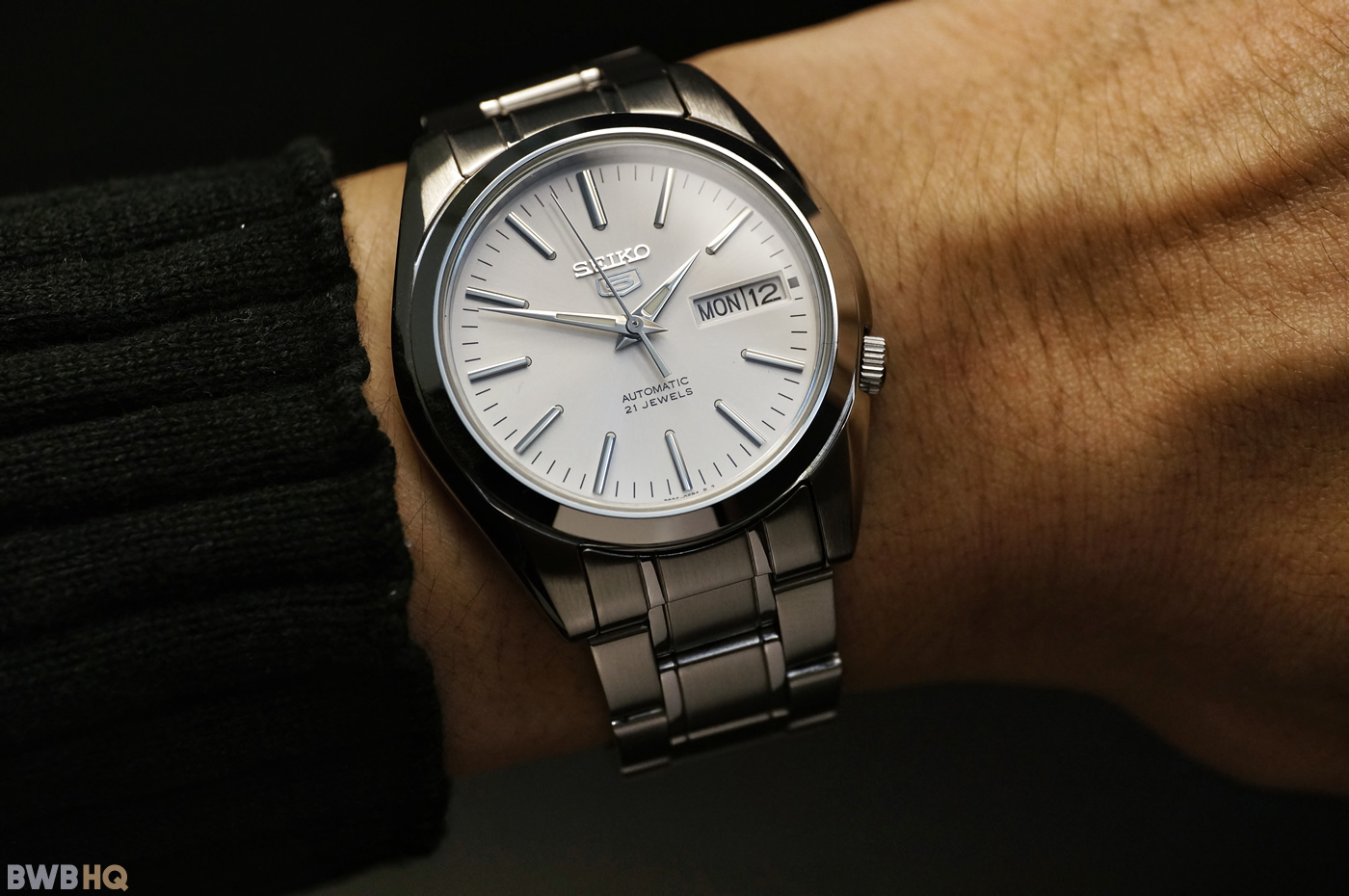 Review Seiko SNKL41 Wristshot Small Wrist